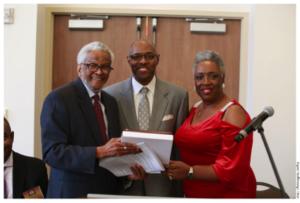 Judge Richard Dinkins, Harvey Hoskins, and Sharon Hurt